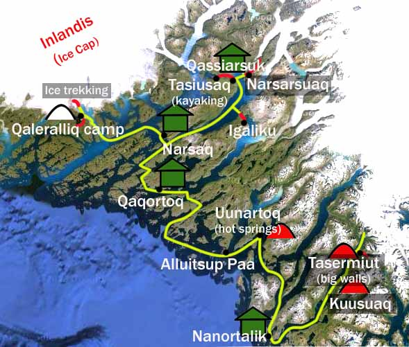 South Greenland Best Adventure Map