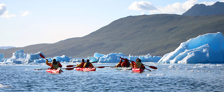 Kayaking In Tasiusaq Bay