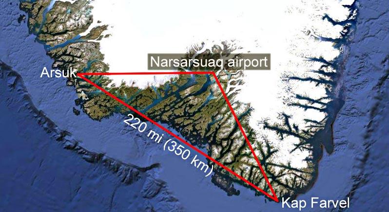 narsarsuaq airport to Arsuk and Kap Farvel
