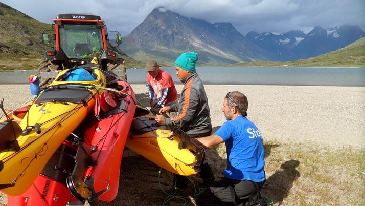 Kayaking and trekking Greenland. Tasersuaq lake