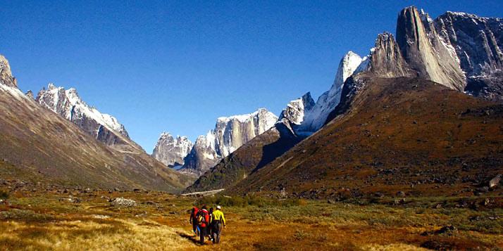 Tasermiut big walls, trekking Greenland