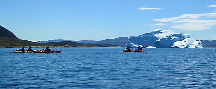 kayak and ice hiking in greenland iceberg