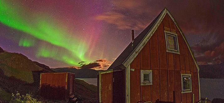 Greenland northern lights Qassiarsuk