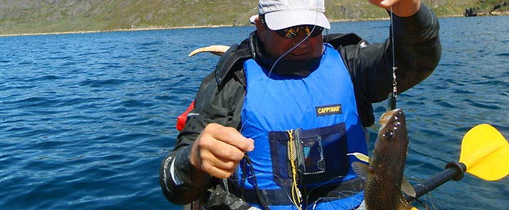 kayaking in greenland fishing