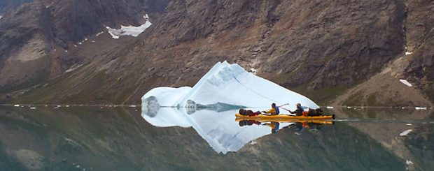 kayaking in greenland calm waters