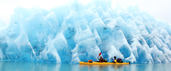 kayaking in greenland iceberg