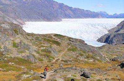 Kiattut glacier, hotel trip to South Greenland